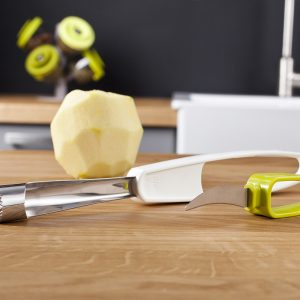 apple corer and knife